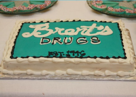 Brent's Drugs 65th anniversary cake