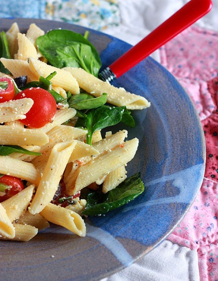 Spinach Penne Pasta Salad